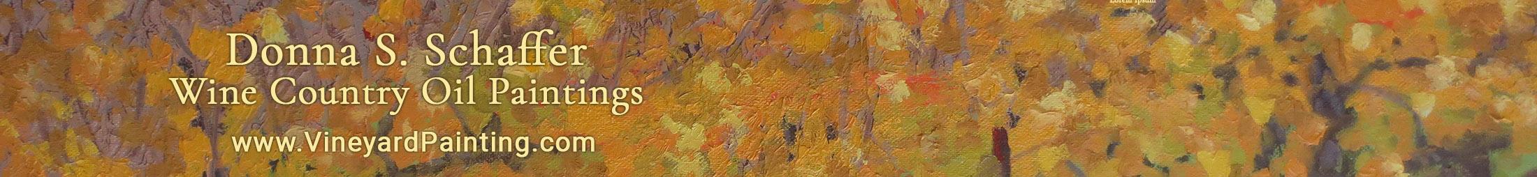Donna Schaffer Original Vineyards Oil Paintings Logo